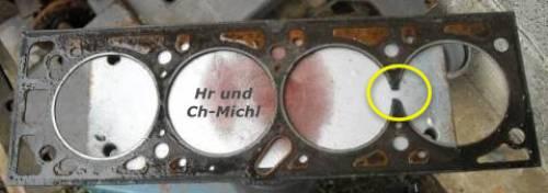 CH-Michl, defekte Zylinderkopfdichtung vom CH-Motor in Helmeroth 2008