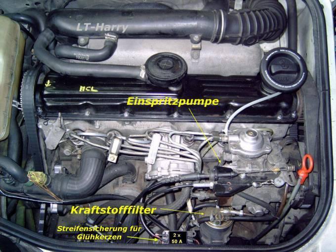 Einspritzpumpe, Dieselfilter